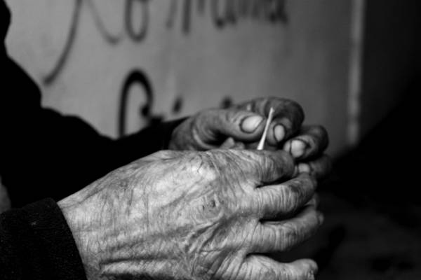 Homeless Man's Hands